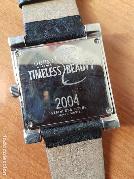 Relojes - Guess: Reloj de señora GUESS de cuarzo Elle Beauty 2004 en acero con circonios en la caja, correa cuero - Foto 12 - 105740827
