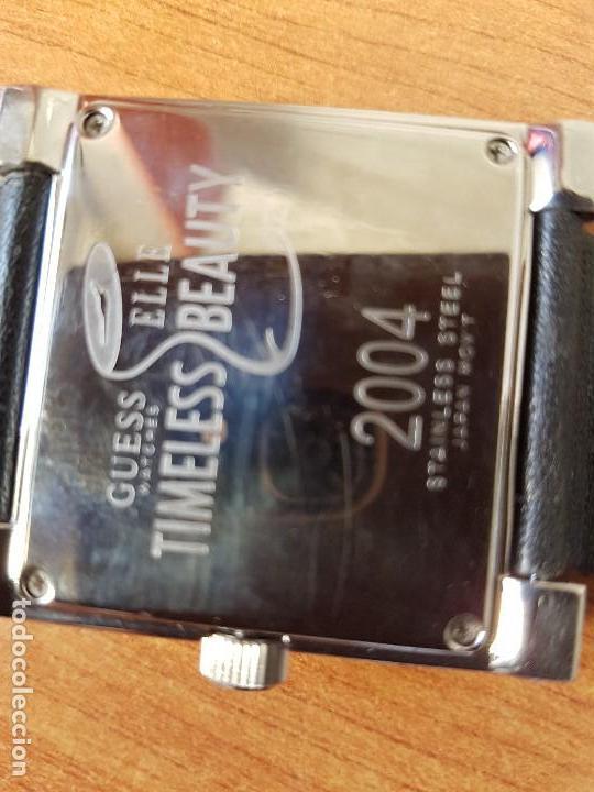 Relojes - Guess: Reloj de señora GUESS de cuarzo Elle Beauty 2004 en acero con circonios en la caja, correa cuero - Foto 16 - 105740827