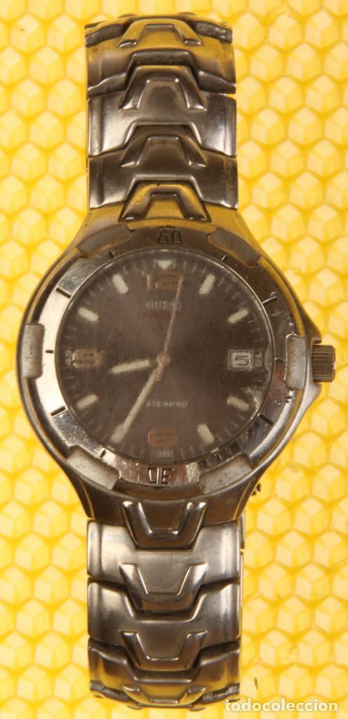 comprar popular mayor selección venta minorista reloj guess hombre, funciona, cristal rayado.