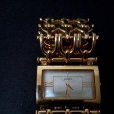 Relojes - Guess: MAGNIFICO RELOJE DE DAMA GUESS, PLAQUEADO ORO 19K - ORIGINAL - A FUNCIONAR - MIRE FOTOS. Lote 118218687