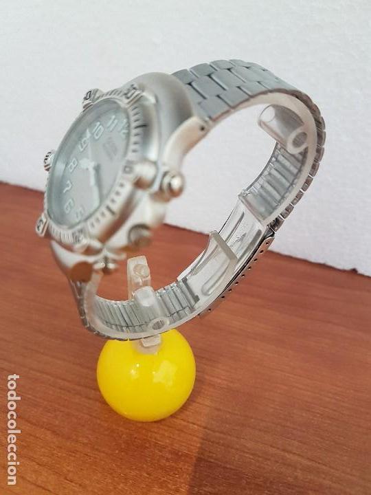 Relojes - Guess: Reloj caballero GUESS de cuarzo acero con calendario a las tres, bisel giratorio con correa de acero - Foto 5 - 129181991