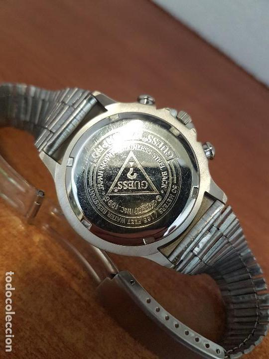 Relojes - Guess: Reloj caballero GUESS de cuarzo acero con calendario a las tres, bisel giratorio con correa de acero - Foto 9 - 129181991
