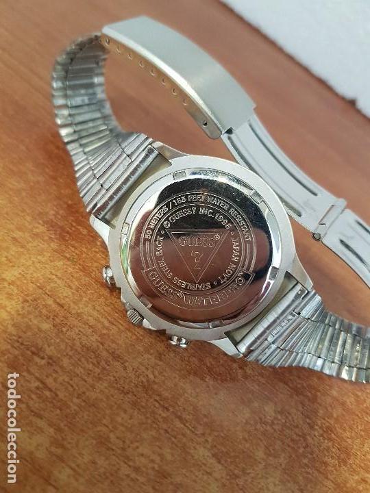 Relojes - Guess: Reloj caballero GUESS de cuarzo acero con calendario a las tres, bisel giratorio con correa de acero - Foto 11 - 129181991