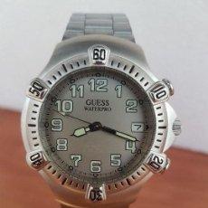 Relojes - Guess: RELOJ CABALLERO GUESS DE CUARZO ACERO CON CALENDARIO A LAS TRES, BISEL GIRATORIO CON CORREA DE ACERO. Lote 129181991
