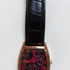 Relojes - Guess: RELOJ UNISEX MARCA GUESS CORREA DE PIEL NEGRA A ESTRENAR ( RESTO JOYERIA). Lote 135129410