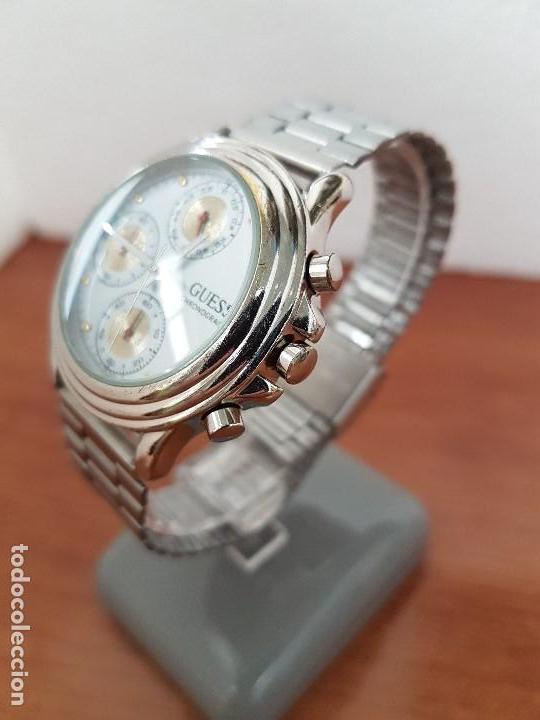 Relojes - Guess: Reloj caballero GUESS cronografo de cuarzo con tres subesferas en acero, correa de acero nueva - Foto 2 - 138650050