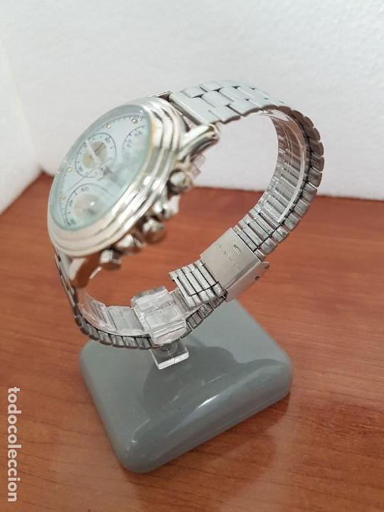 Relojes - Guess: Reloj caballero GUESS cronografo de cuarzo con tres subesferas en acero, correa de acero nueva - Foto 6 - 138650050