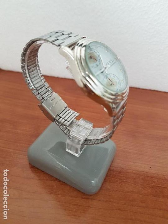 Relojes - Guess: Reloj caballero GUESS cronografo de cuarzo con tres subesferas en acero, correa de acero nueva - Foto 9 - 138650050