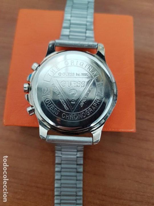 Relojes - Guess: Reloj caballero GUESS cronografo de cuarzo con tres subesferas en acero, correa de acero nueva - Foto 10 - 138650050