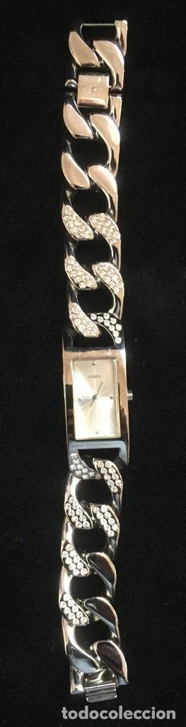 Relojes - Guess: ELEGANTE RELOJ GUESS CON ORIGINAL CADENA DE ACERO PLATEADO CON BRILLANTES O SIMILAR - Foto 4 - 139073958