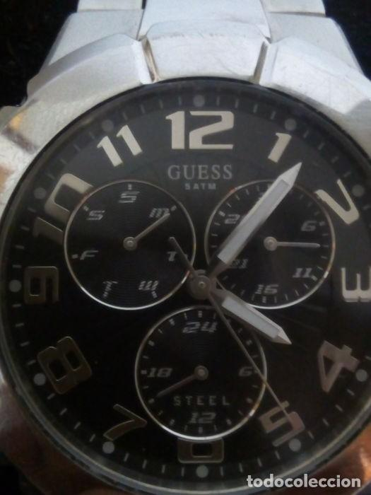 Relojes - Guess: reloj guess caballero cuarzo.exelente estado - Foto 6 - 159145338