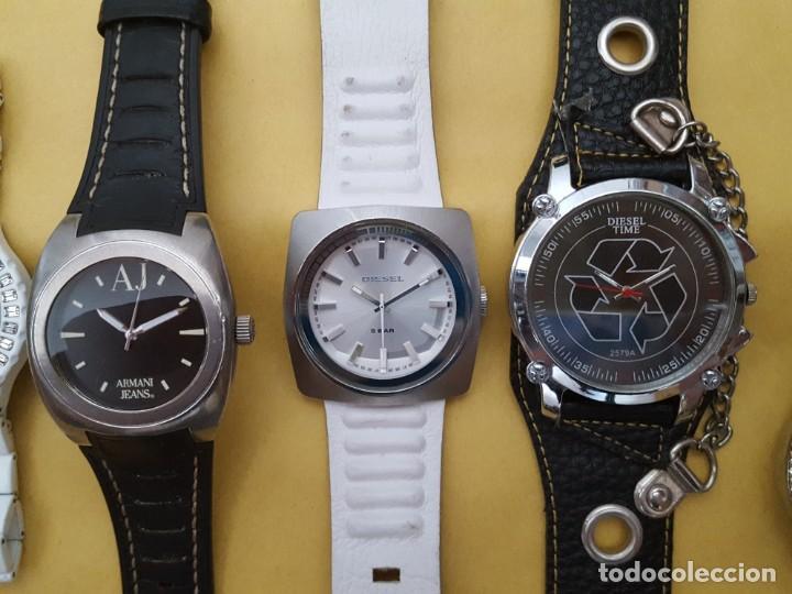 Relojes - Guess: EXTRAORDINARIO LOTE DE RELOJES Y OTROS GUESS, D&G, DIESEL, ARMANI, VANS, ED HARDY, ANTONI MORATO, - Foto 3 - 168773032