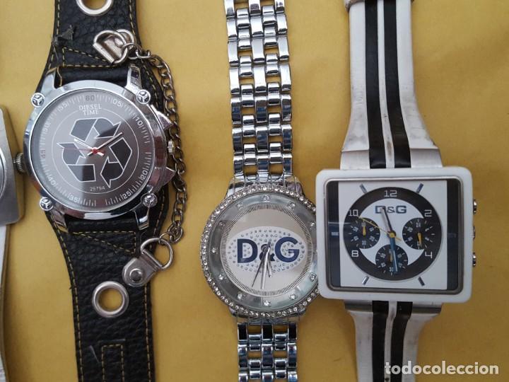 Relojes - Guess: EXTRAORDINARIO LOTE DE RELOJES Y OTROS GUESS, D&G, DIESEL, ARMANI, VANS, ED HARDY, ANTONI MORATO, - Foto 4 - 168773032
