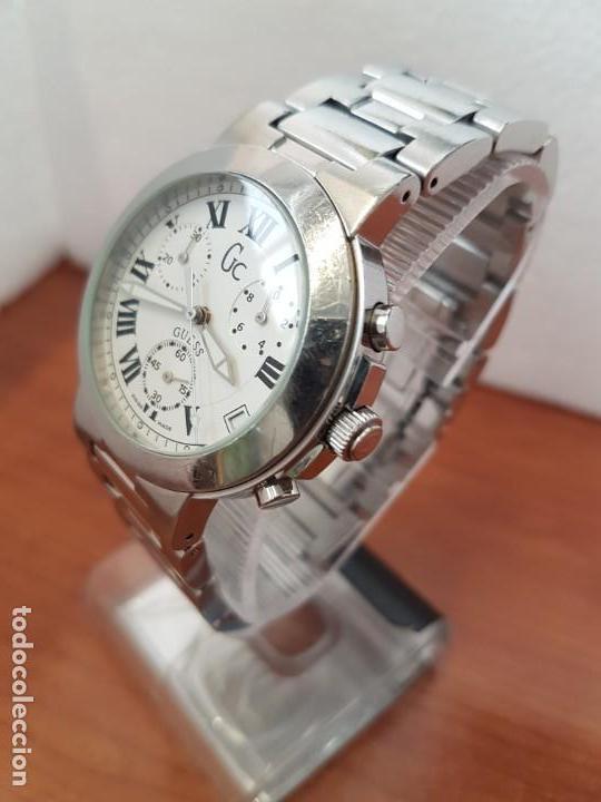 Relojes - Guess: Reloj caballero cuarzo GUESS cronografo Suizo acero, calendario a las cuatro, correa original Guess - Foto 2 - 171050034