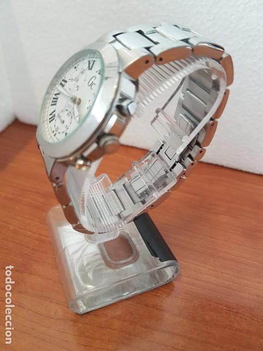 Relojes - Guess: Reloj caballero cuarzo GUESS cronografo Suizo acero, calendario a las cuatro, correa original Guess - Foto 4 - 171050034
