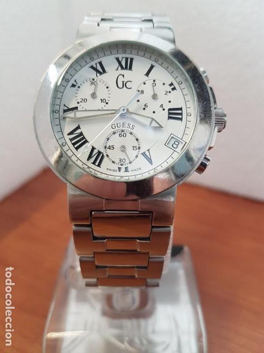 Relojes - Guess: Reloj caballero cuarzo GUESS cronografo Suizo acero, calendario a las cuatro, correa original Guess - Foto 5 - 171050034