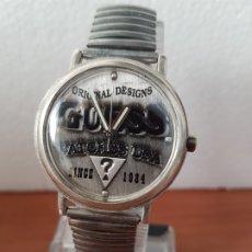 Relojes - Guess: RELOJ CABALLERO GUESS DE CUARZO EN ACERO, ESFERA MUY BONITA MIRAR FOTOS CON CORREA ACERO DE ESTIRAR,. Lote 172548387