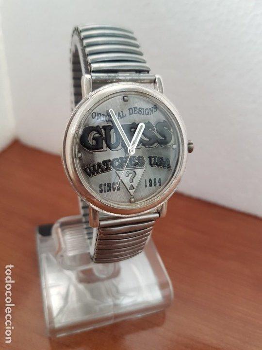 Relojes - Guess: Reloj caballero GUESS de cuarzo en acero, esfera muy bonita mirar fotos con correa acero de estirar, - Foto 4 - 172548387