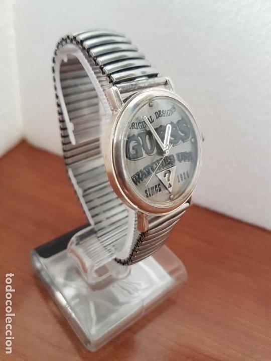 Relojes - Guess: Reloj caballero GUESS de cuarzo en acero, esfera muy bonita mirar fotos con correa acero de estirar, - Foto 6 - 172548387