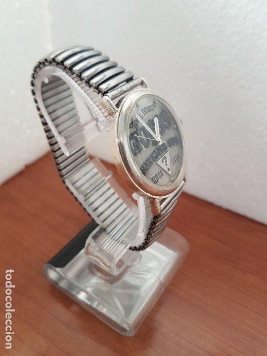 Relojes - Guess: Reloj caballero GUESS de cuarzo en acero, esfera muy bonita mirar fotos con correa acero de estirar, - Foto 7 - 172548387