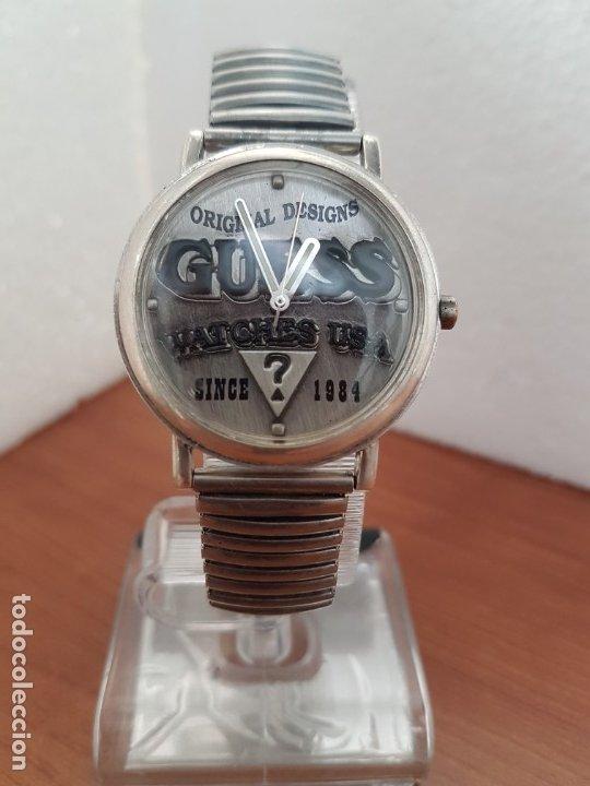 Relojes - Guess: Reloj caballero GUESS de cuarzo en acero, esfera muy bonita mirar fotos con correa acero de estirar, - Foto 8 - 172548387