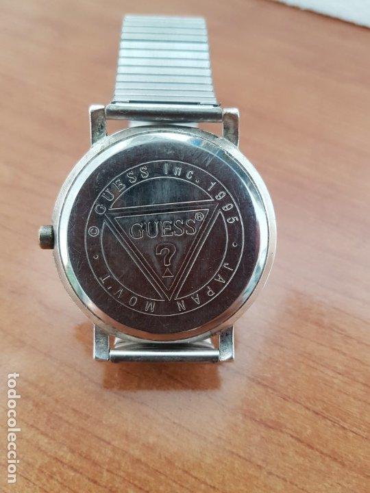Relojes - Guess: Reloj caballero GUESS de cuarzo en acero, esfera muy bonita mirar fotos con correa acero de estirar, - Foto 11 - 172548387