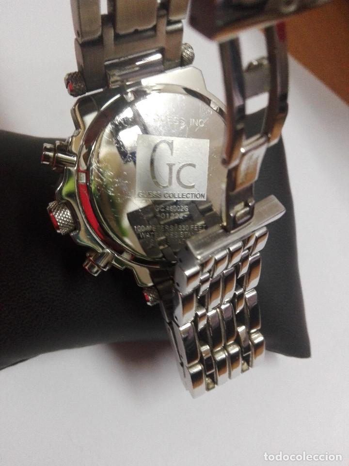 Relojes - Guess: RELOJ Gc GUESS COLLECTION 46002G. CRONOGRAFO EN ACERO, DIAL PLATA.SUMERGIBLE 100M.COMO NUEVO. 45mm - Foto 4 - 182321985