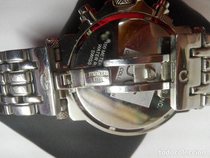 Relojes - Guess: RELOJ Gc GUESS COLLECTION 46002G. CRONOGRAFO EN ACERO, DIAL PLATA.SUMERGIBLE 100M.COMO NUEVO. 45mm - Foto 5 - 182321985