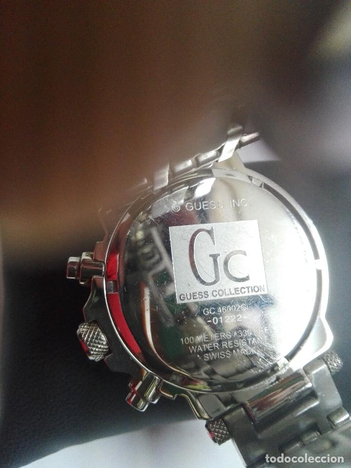 Relojes - Guess: RELOJ Gc GUESS COLLECTION 46002G. CRONOGRAFO EN ACERO, DIAL PLATA.SUMERGIBLE 100M.COMO NUEVO. 45mm - Foto 6 - 182321985