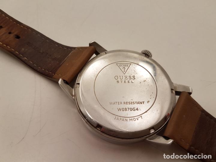 Relojes - Guess: RELOJ GRANDE GUESS, WATER RESISTANT, (POCO USO), FUNCIONA - Foto 3 - 210055835
