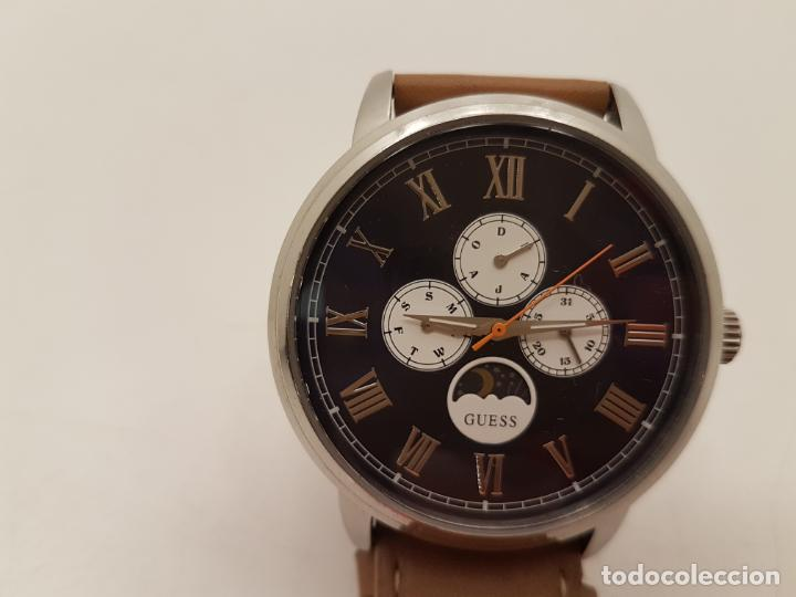 Relojes - Guess: RELOJ GRANDE GUESS, WATER RESISTANT, (POCO USO), FUNCIONA - Foto 8 - 210055835