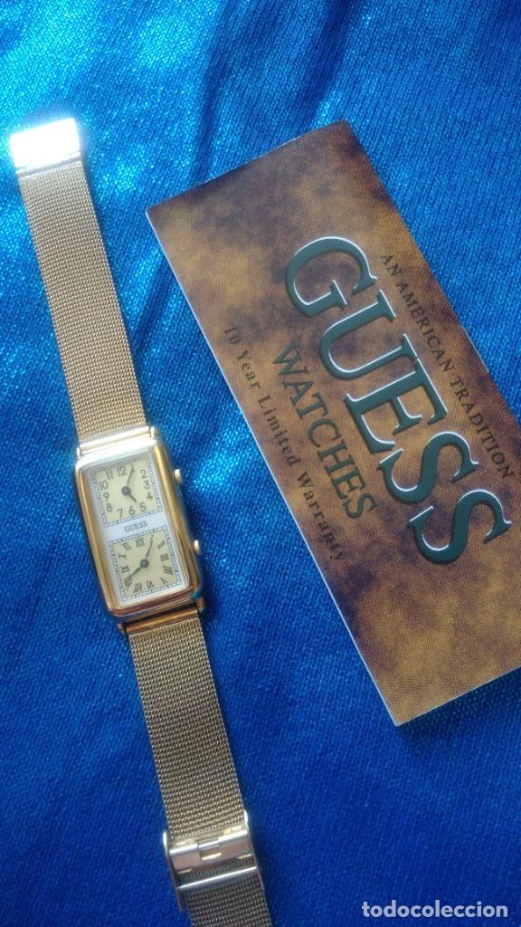 Relojes - Guess: RELOJ DORADO DE DOS ESFERAS ´GUESS´ EN SU ESTUCHE - Foto 2 - 225262425