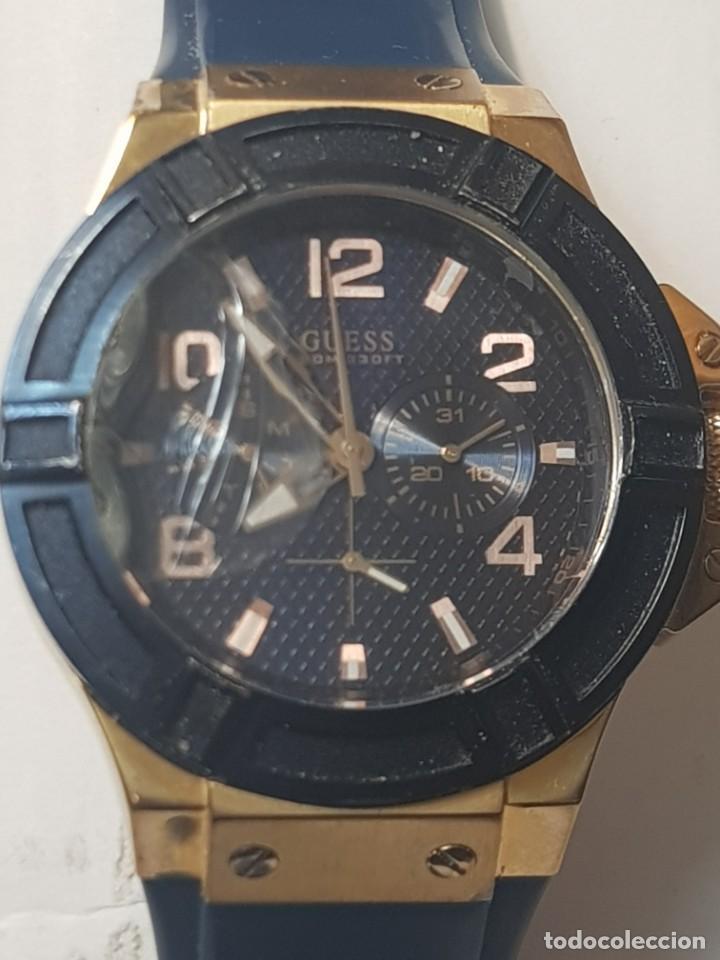 RELOJ GUESS CABALLERO 100M/330FT FUNCIONANDO CRISTAL TOCADO (Relojes - Relojes Actuales - Guess)