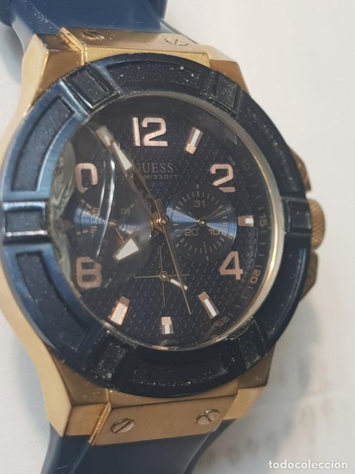 Relojes - Guess: Reloj Guess Caballero 100M/330FT funcionando cristal tocado - Foto 6 - 246303670