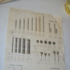 Herramientas de relojes: FOLLETOS ILUSTRADO- HOJA DE 33 X 21.5 CM. CON PRECIOS Y CANTIDADES- 1 JUNIO 1922 (MANUSCRITO A LÁPIZ. Lote 27772107