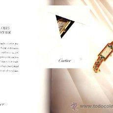 Herramientas de relojes: CATÁLOGO DE RELOJES CARTIER AÑOS 70-80. Lote 30531098