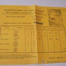 Herramientas de relojes: FOLLETO: J.M. PORTUSACH-DESPERTADORES DE FAMA MUNDIAL-S/F-VEGLIA DESPERTADORES LUJO MINIATURA. Lote 32564604