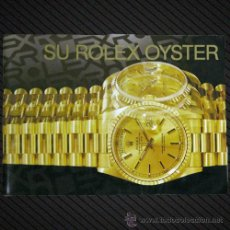 Herramientas de relojes: REF.: F007 --- MANUAL ROLEX EN ESPAÑOL AÑO 1999 ---. Lote 87350267