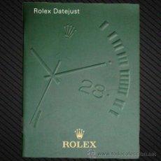Herramientas de relojes: REF.: F006 --- MANUAL ROLEX DATEJUST EN ESPAÑOL AÑO:2003-2004-2005 ---. Lote 33000134