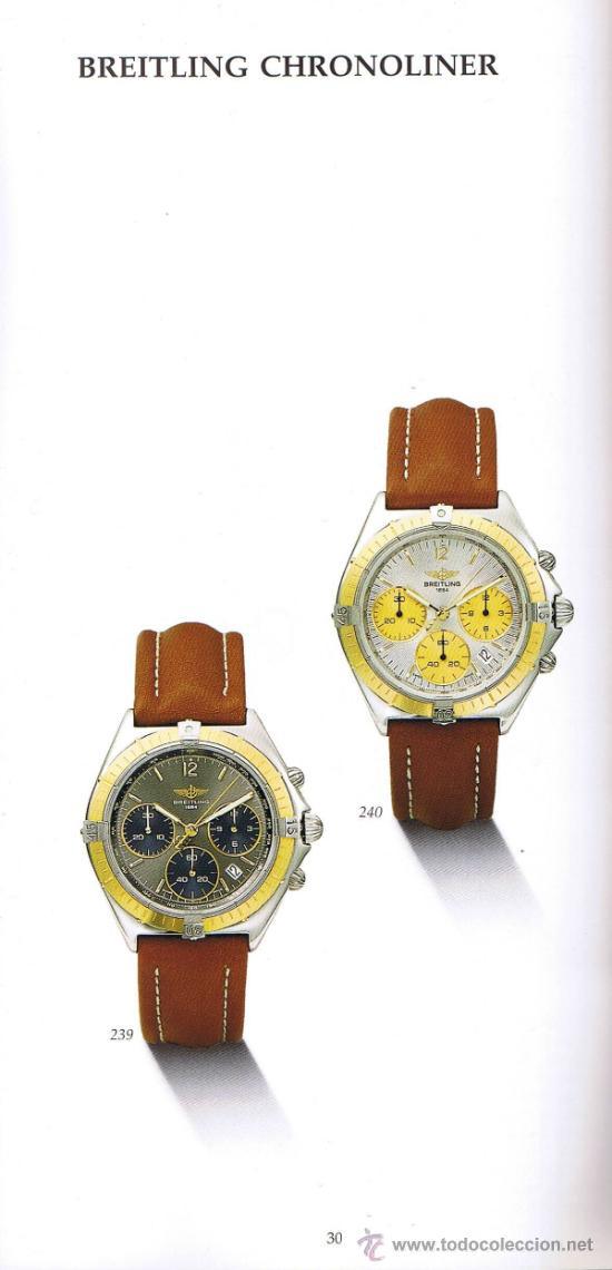 Herramientas de relojes: CATÁLOGO RELOJES BREITLING 1884 - HISTORIA EN 80 PÁGINAS - EDICIÓN 1991 - Foto 2 - 35544587