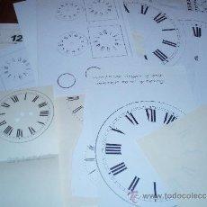Herramientas de relojes: SURTIDO DE ESFERAS DE PAPEL APTAS RESTAURAR. Lote 35990159