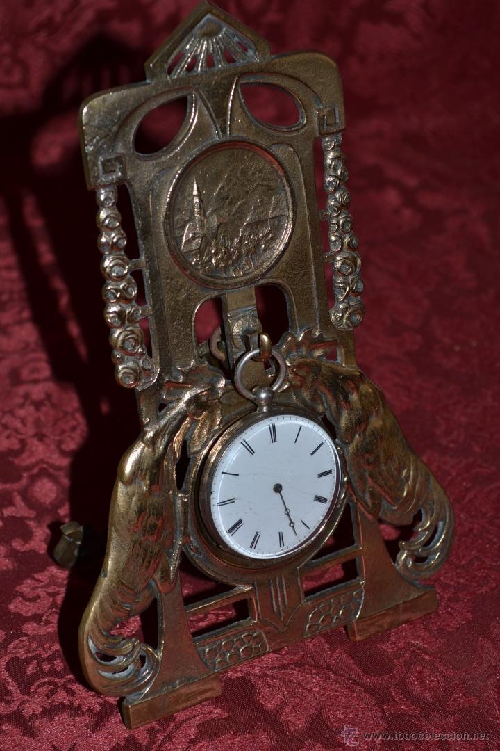 Herramientas de relojes: PRECIOSA RELOJERA ANTIGUA EN BRONCE DORADO DE MUY BONITO DISEÑO,S.XIX - Foto 2 - 39341533