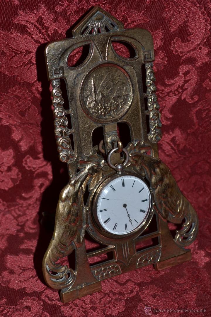Herramientas de relojes: PRECIOSA RELOJERA ANTIGUA EN BRONCE DORADO DE MUY BONITO DISEÑO,S.XIX - Foto 3 - 39341533