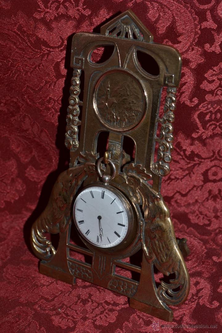 Herramientas de relojes: PRECIOSA RELOJERA ANTIGUA EN BRONCE DORADO DE MUY BONITO DISEÑO,S.XIX - Foto 4 - 39341533