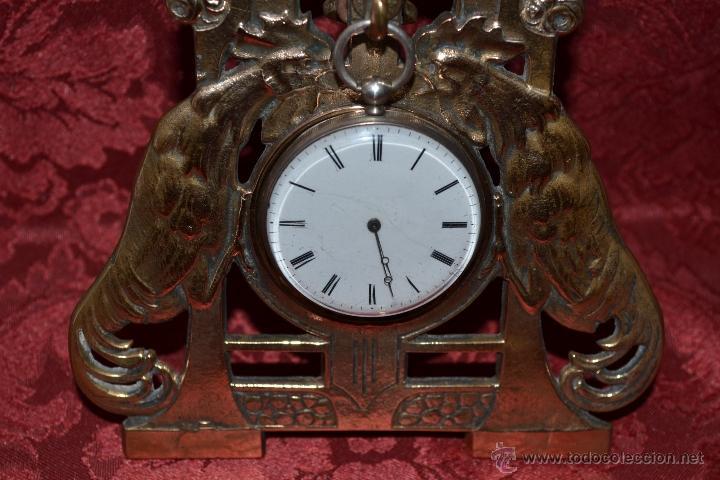 Herramientas de relojes: PRECIOSA RELOJERA ANTIGUA EN BRONCE DORADO DE MUY BONITO DISEÑO,S.XIX - Foto 5 - 39341533