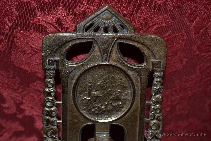 Herramientas de relojes: PRECIOSA RELOJERA ANTIGUA EN BRONCE DORADO DE MUY BONITO DISEÑO,S.XIX - Foto 6 - 39341533