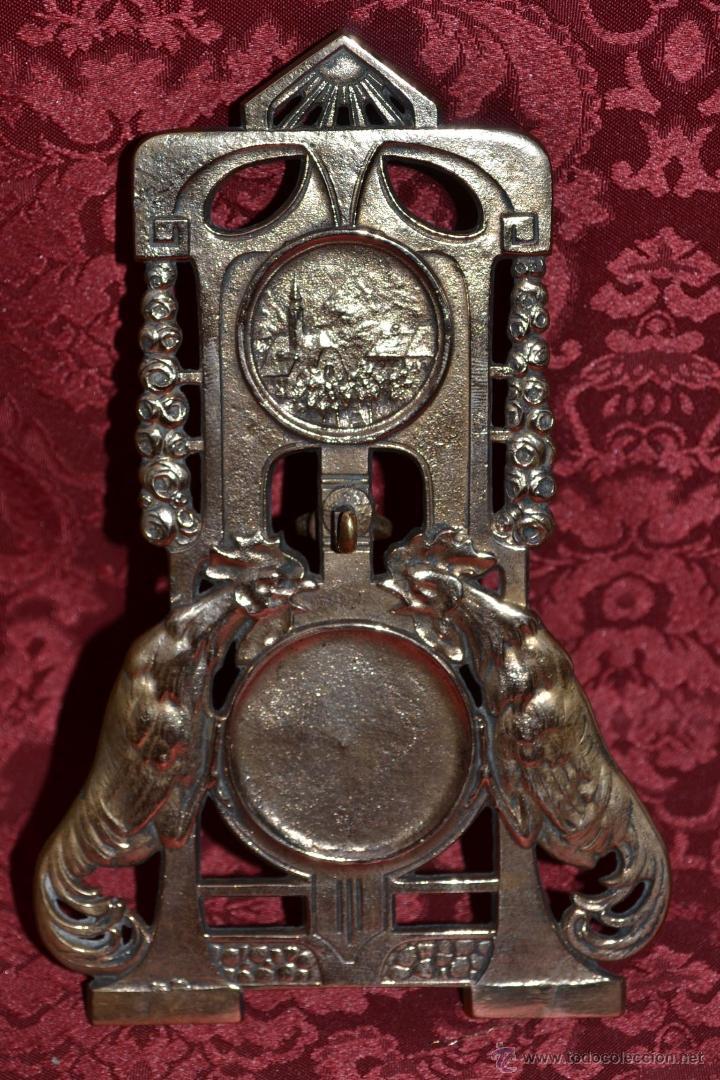 Herramientas de relojes: PRECIOSA RELOJERA ANTIGUA EN BRONCE DORADO DE MUY BONITO DISEÑO,S.XIX - Foto 8 - 39341533