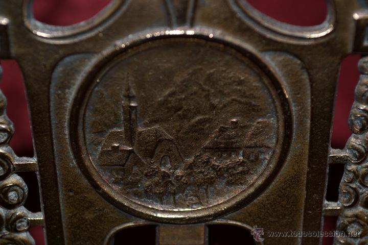 Herramientas de relojes: PRECIOSA RELOJERA ANTIGUA EN BRONCE DORADO DE MUY BONITO DISEÑO,S.XIX - Foto 10 - 39341533