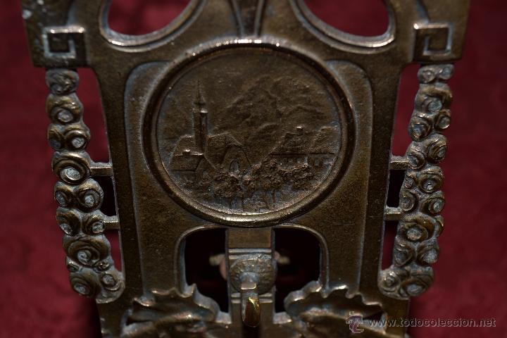 Herramientas de relojes: PRECIOSA RELOJERA ANTIGUA EN BRONCE DORADO DE MUY BONITO DISEÑO,S.XIX - Foto 13 - 39341533