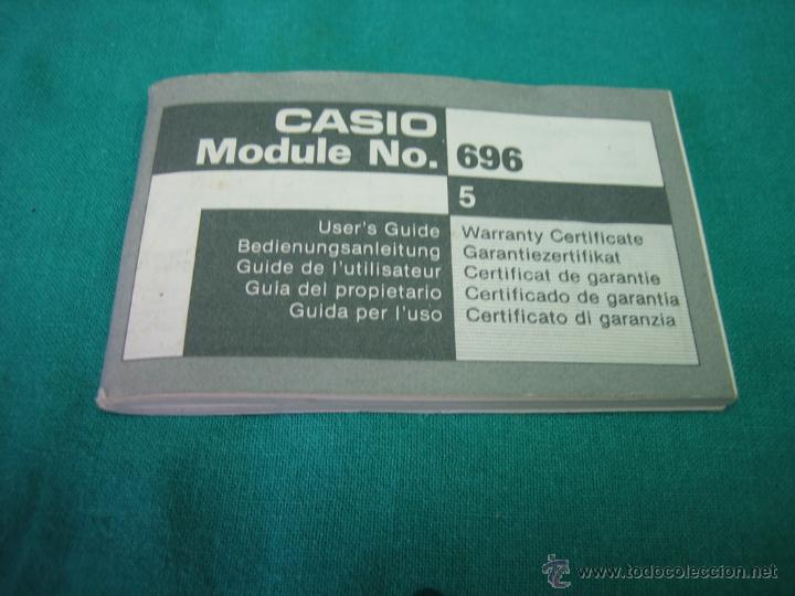 Herramientas de relojes: Manual de instrucciones de reloj Casio modelo 696 - Foto 2 - 39719594